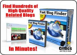 Fast blog finder
