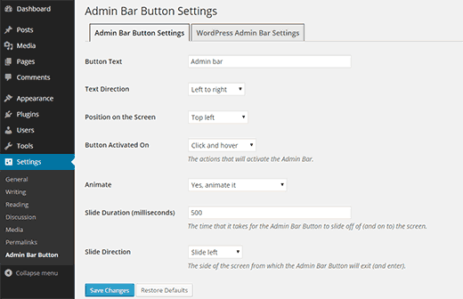 admin-bar-button-settings-plugin